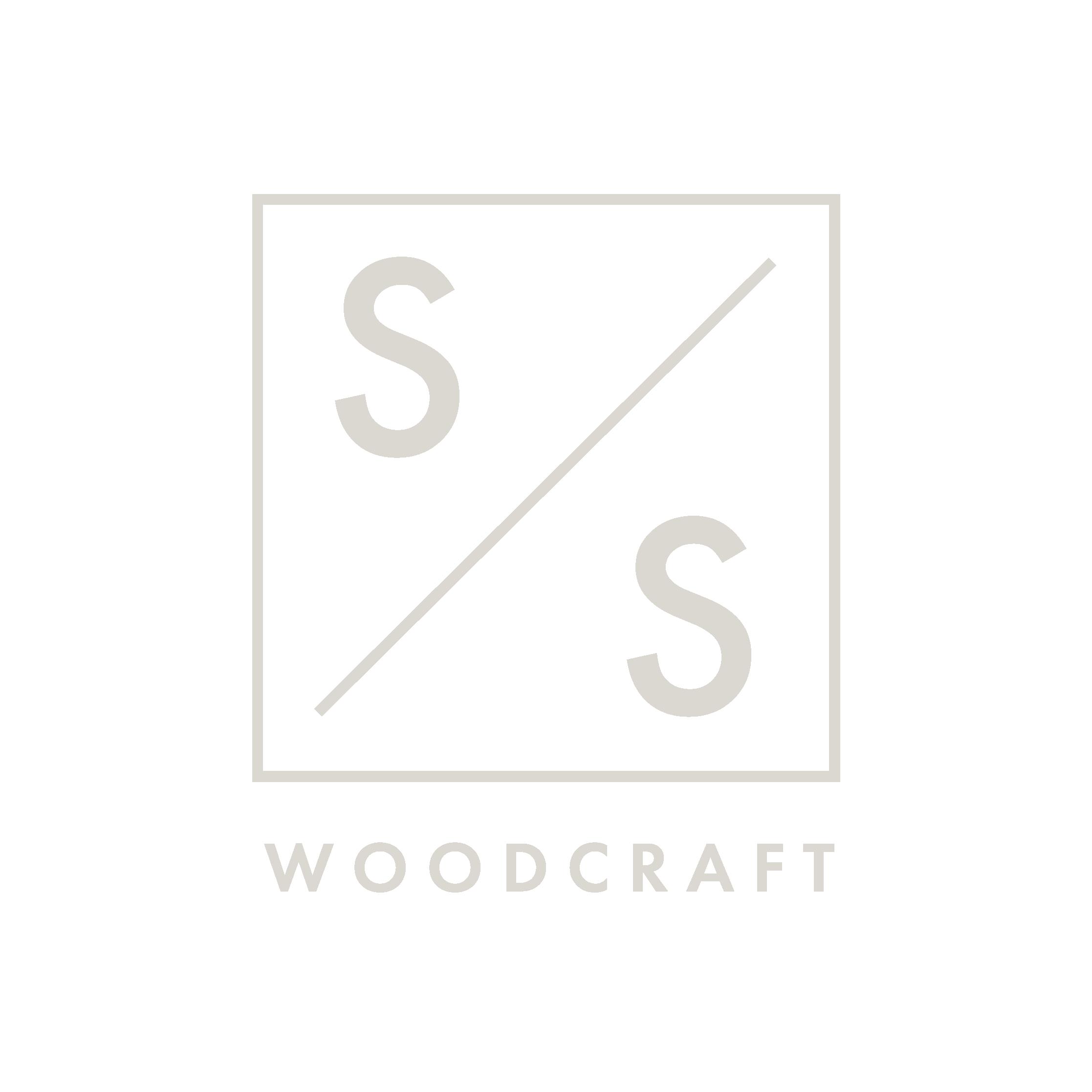 S&S Woodcraft logo ash