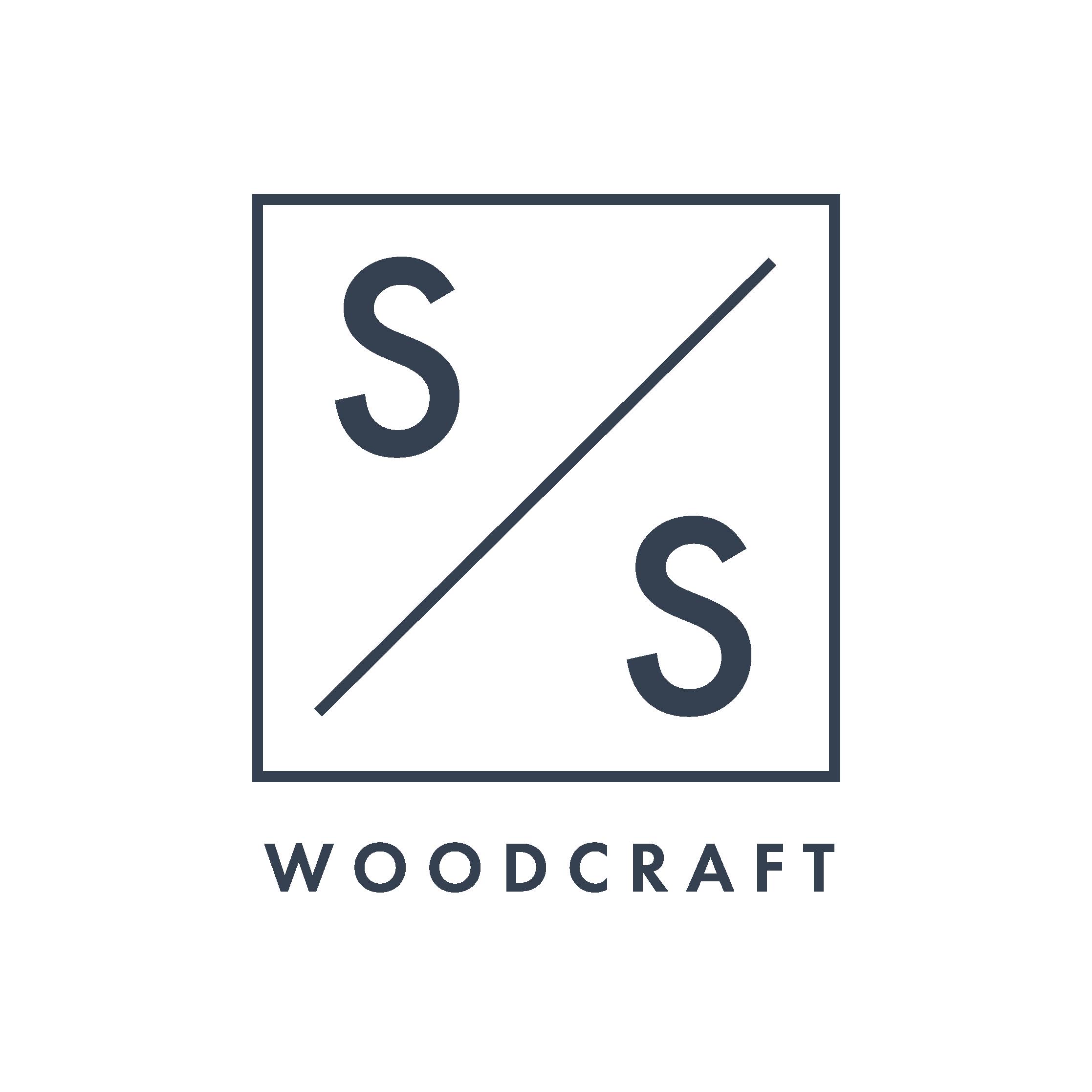 S&S Woodcraft logo navy