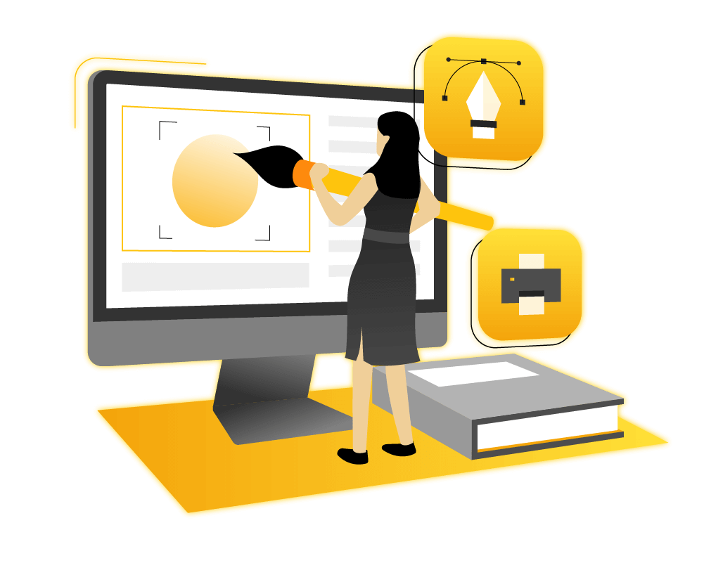 Bee Hexa graphic design illustration