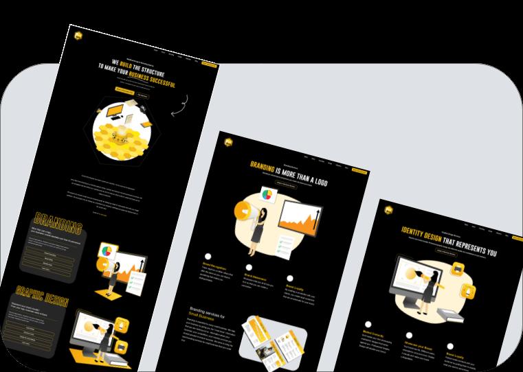 Display of website designs