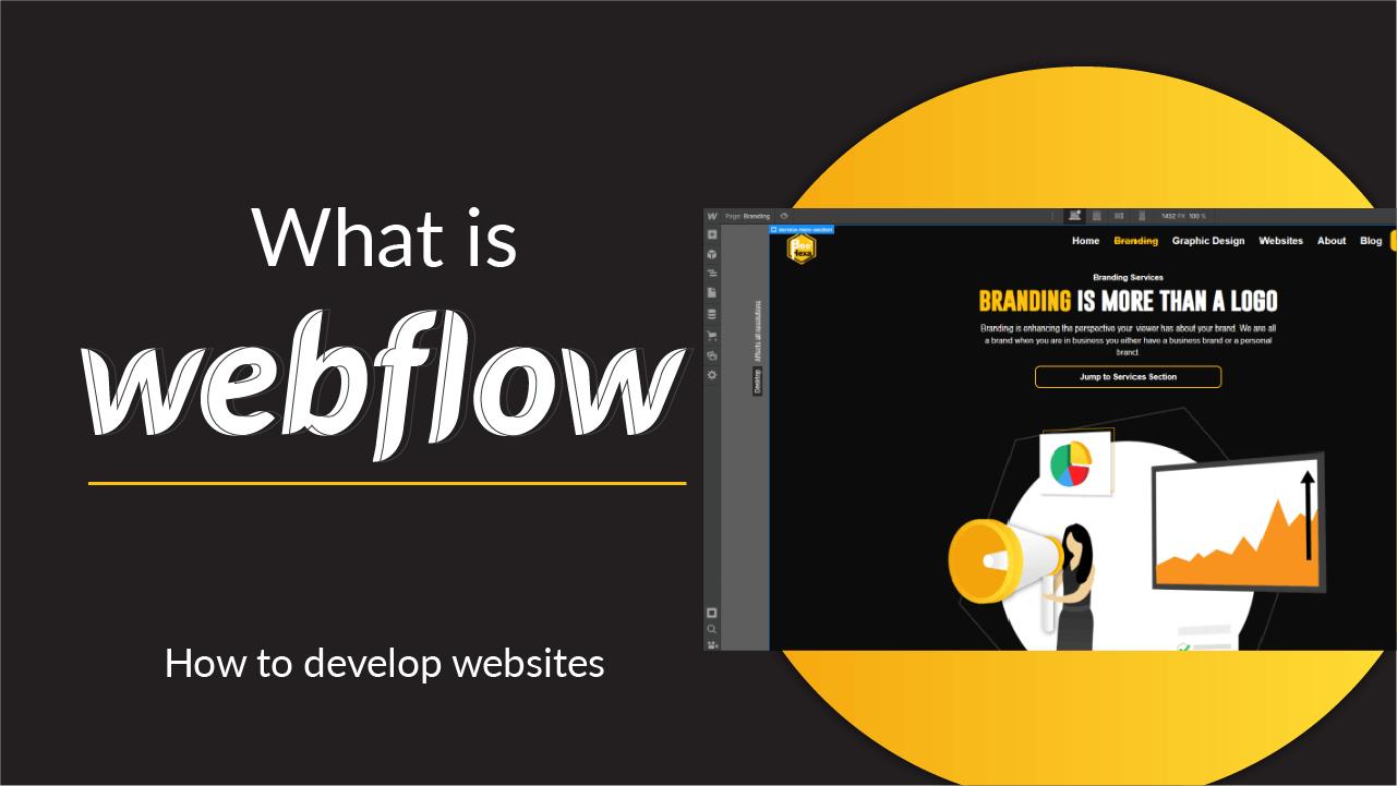 webflow interface for designing websites