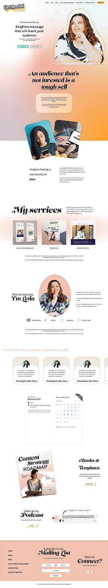 Webflow Design Get Social with Leda