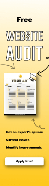 Website Audit Illustration with a monitor and a checklist.