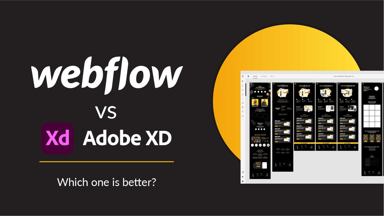 Thumbnail of Webflow logo and Adobe XD logo