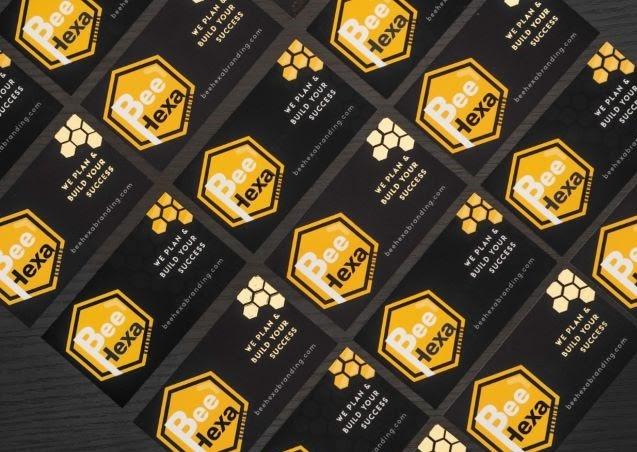 Bee Hexa Branding Business Card Design