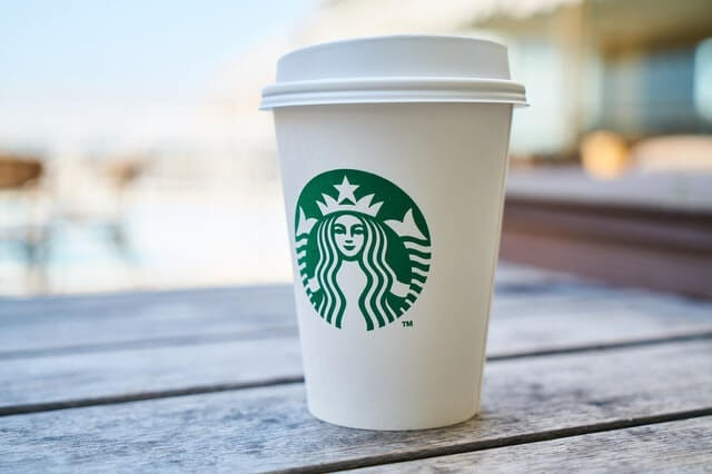 Starbuck's cup with brand logo