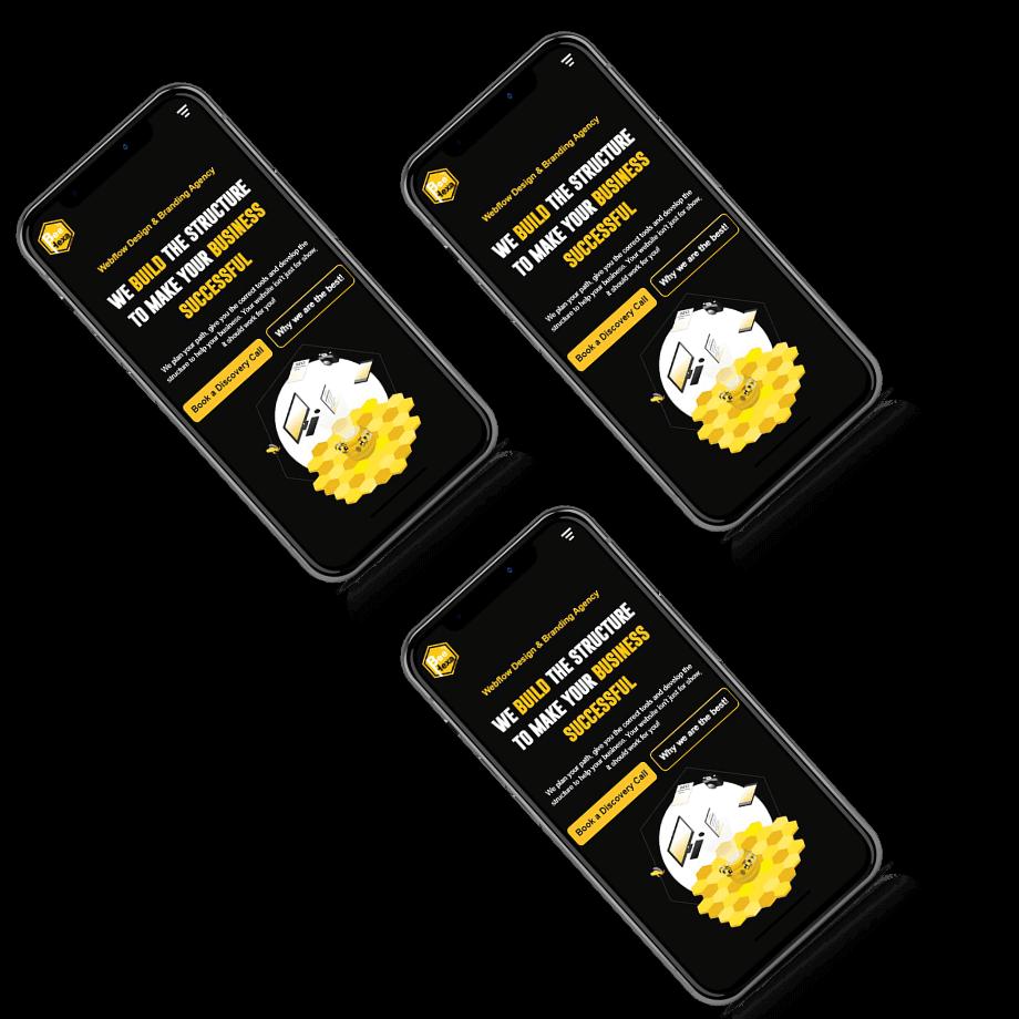 Bee Hexa Web Designs in Mobile