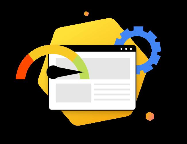 Website Optimization in process, testing website illustration