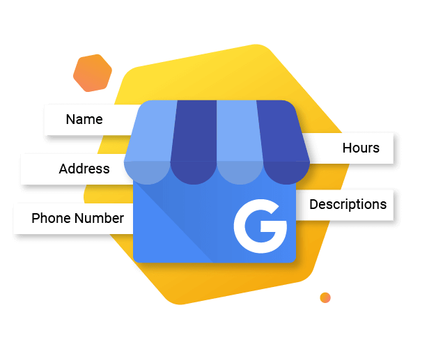 Google My Business Logo showing NAP, hours and category tiles