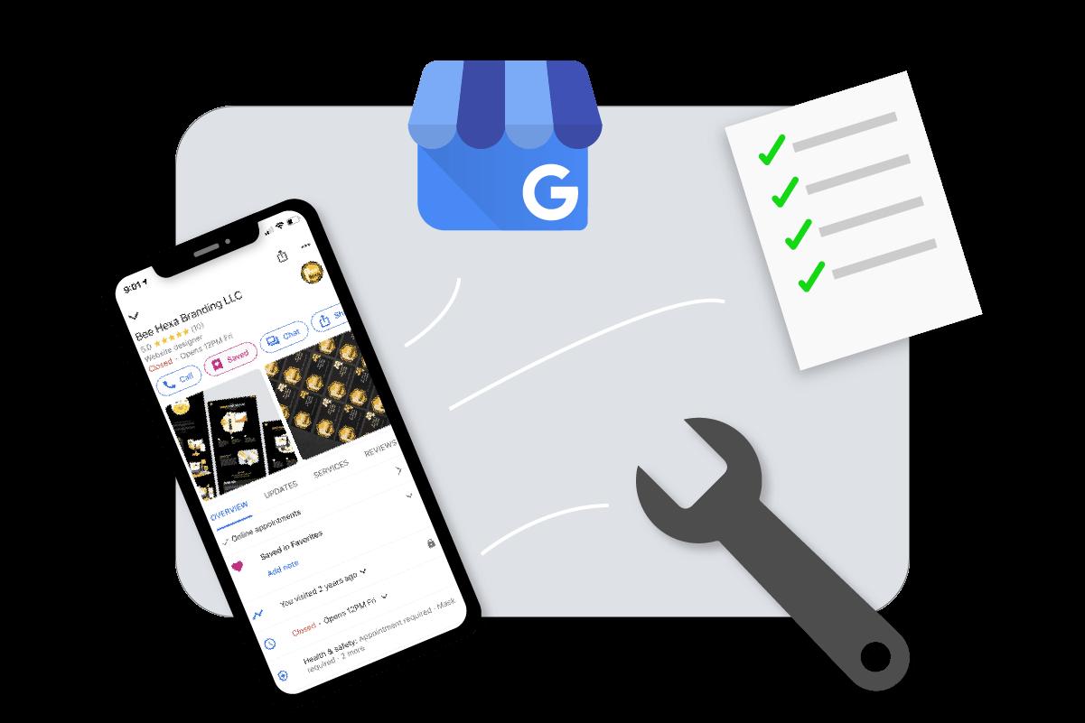 Illustration of Google My Business