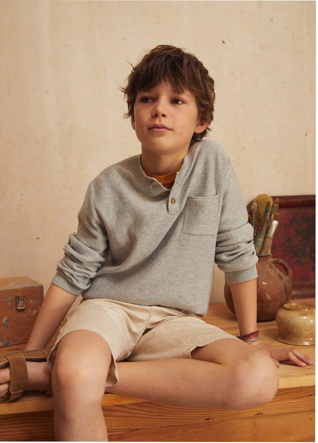 Boy wearing cosy shirt