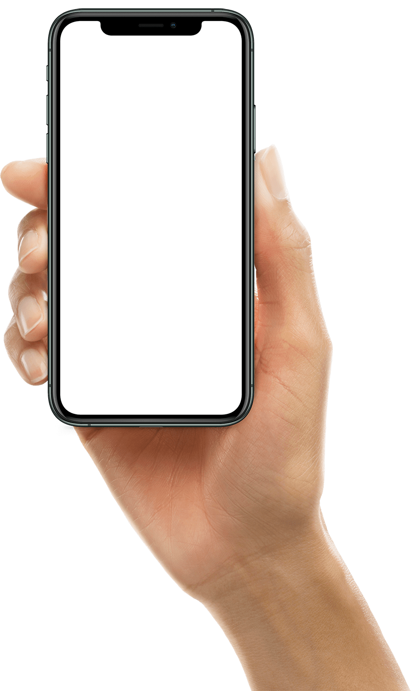 Image of a Hand Holding an Iphone