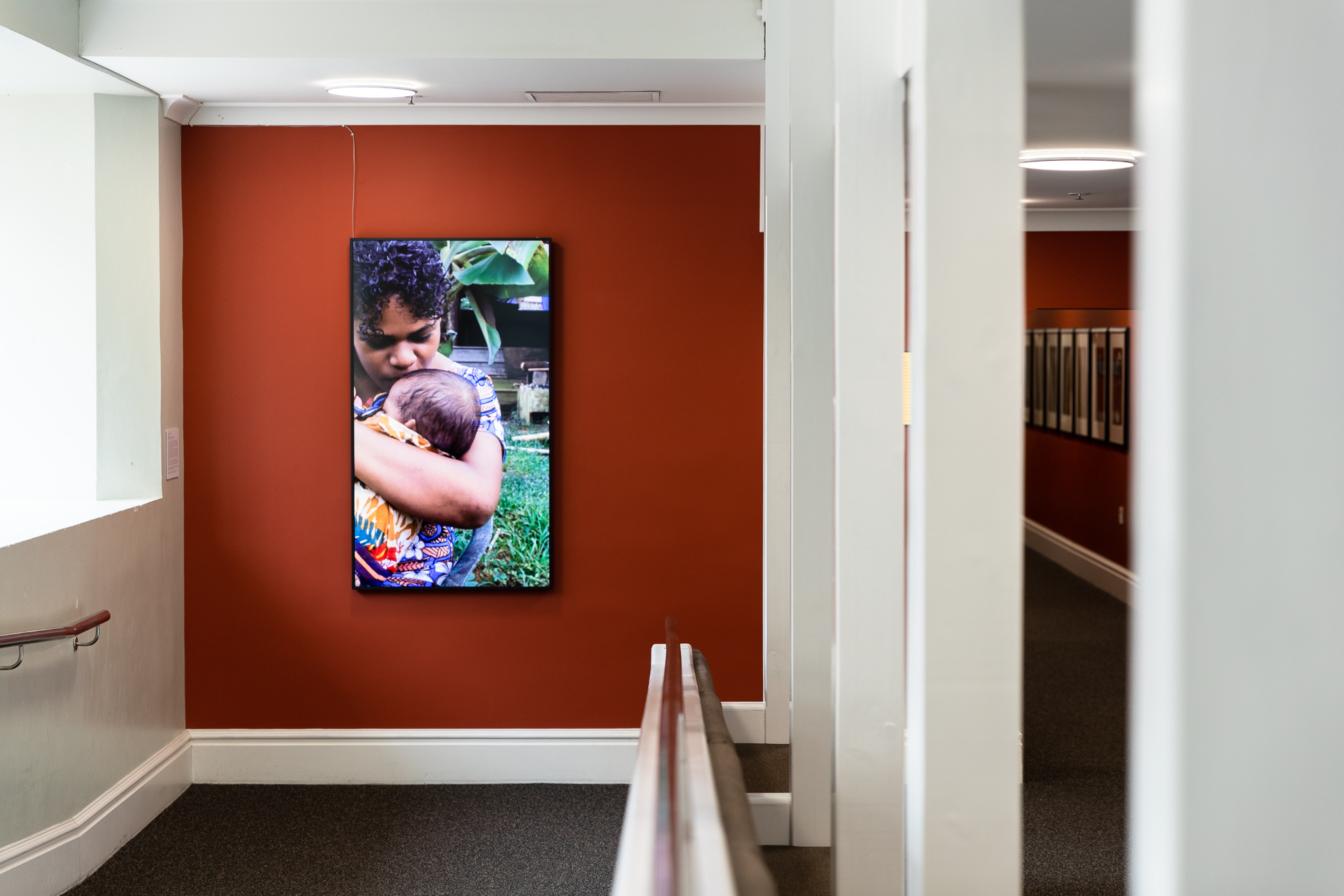 Installation view of Luke Willis Thompson, How Long?, 2018, HD transfer from 16mm Kodak Vision 3 250d stock colour, silent; 11:26 mins, Victoria University of Wellington Art Collection, purchased 2019, photo: Images Services, Victoria University of Wellington