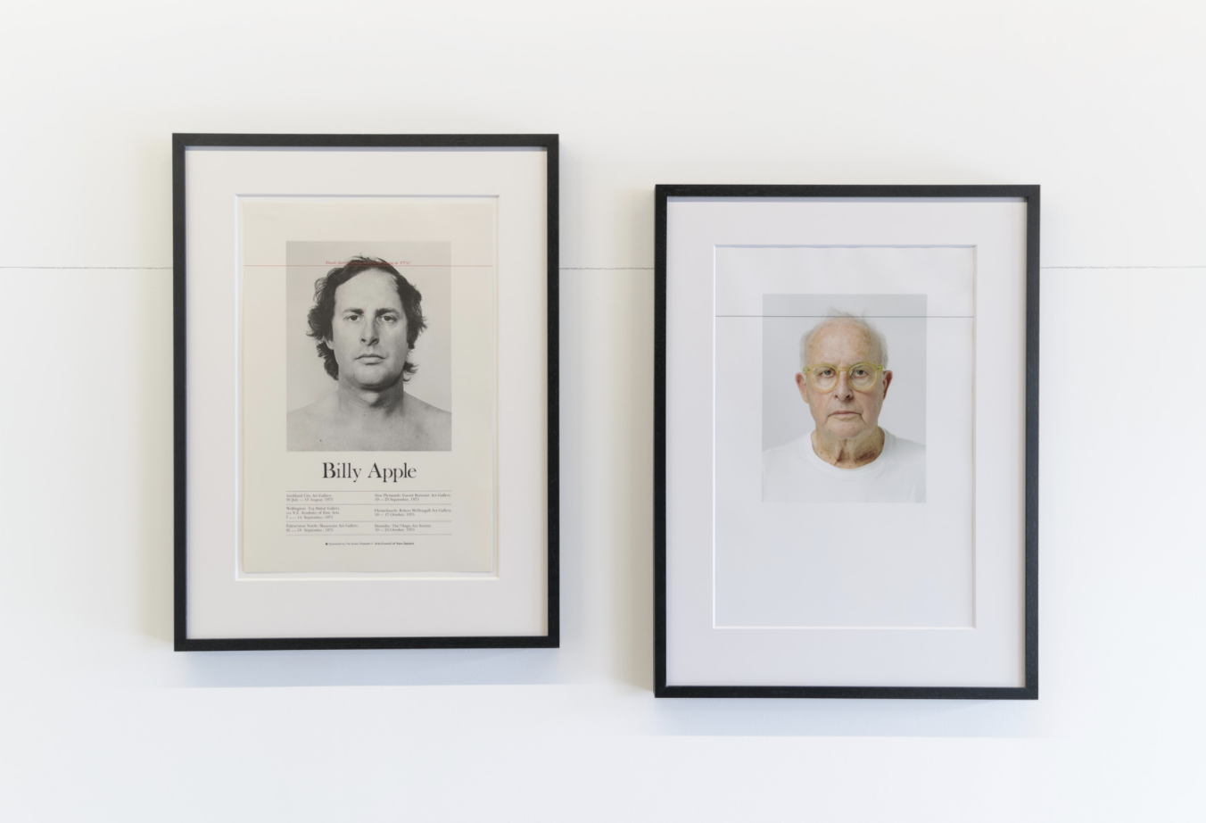Head Height 2, 3 & 4, Billy Apple, 1975/2020. Image courtesy of the artist and Hamish McKay