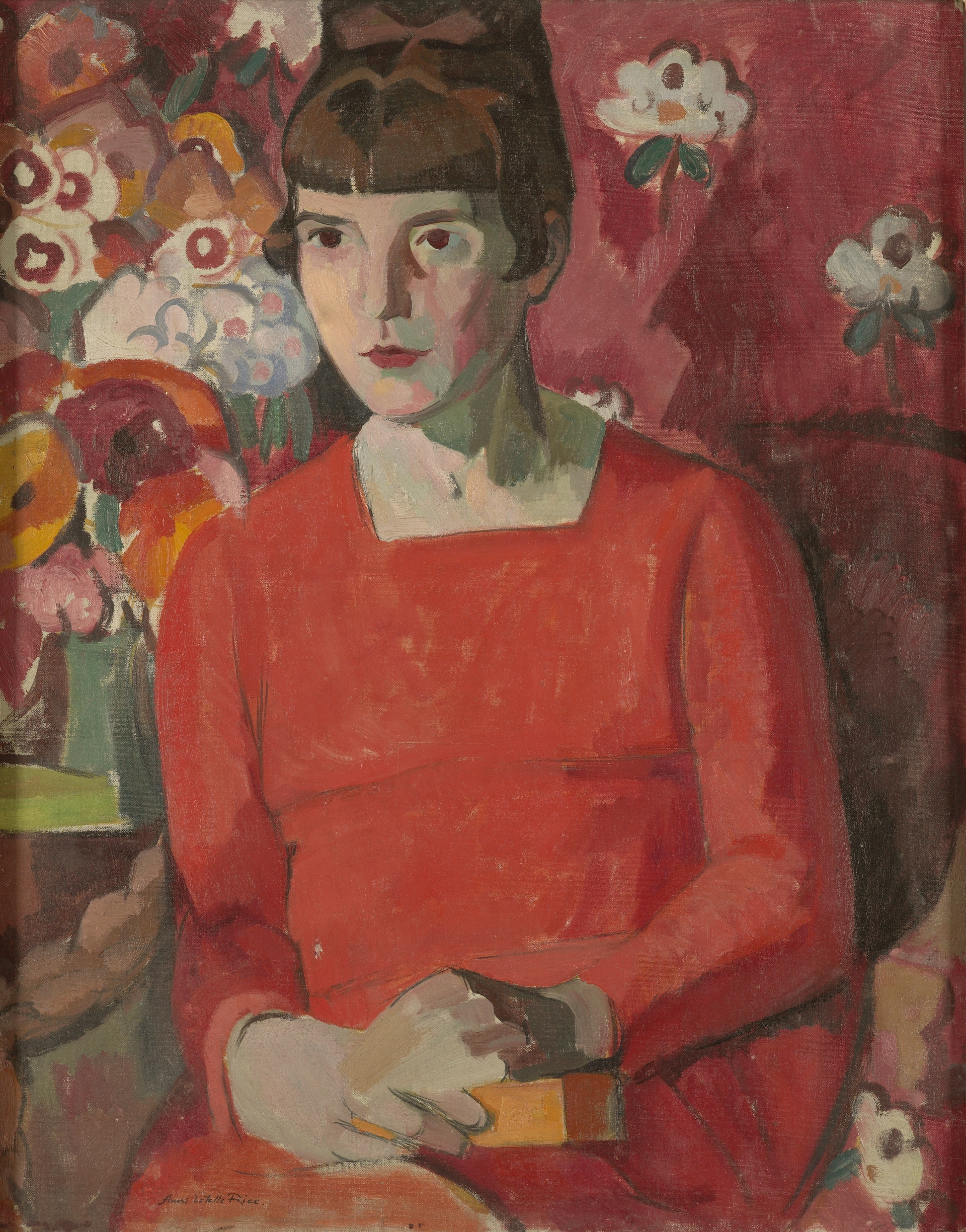 Anne Estelle Rice, Portrait of Katherine Mansfield, 1918, oil on canvas. Purchased 1940 with T G Macarthy Trust funds. Te Papa