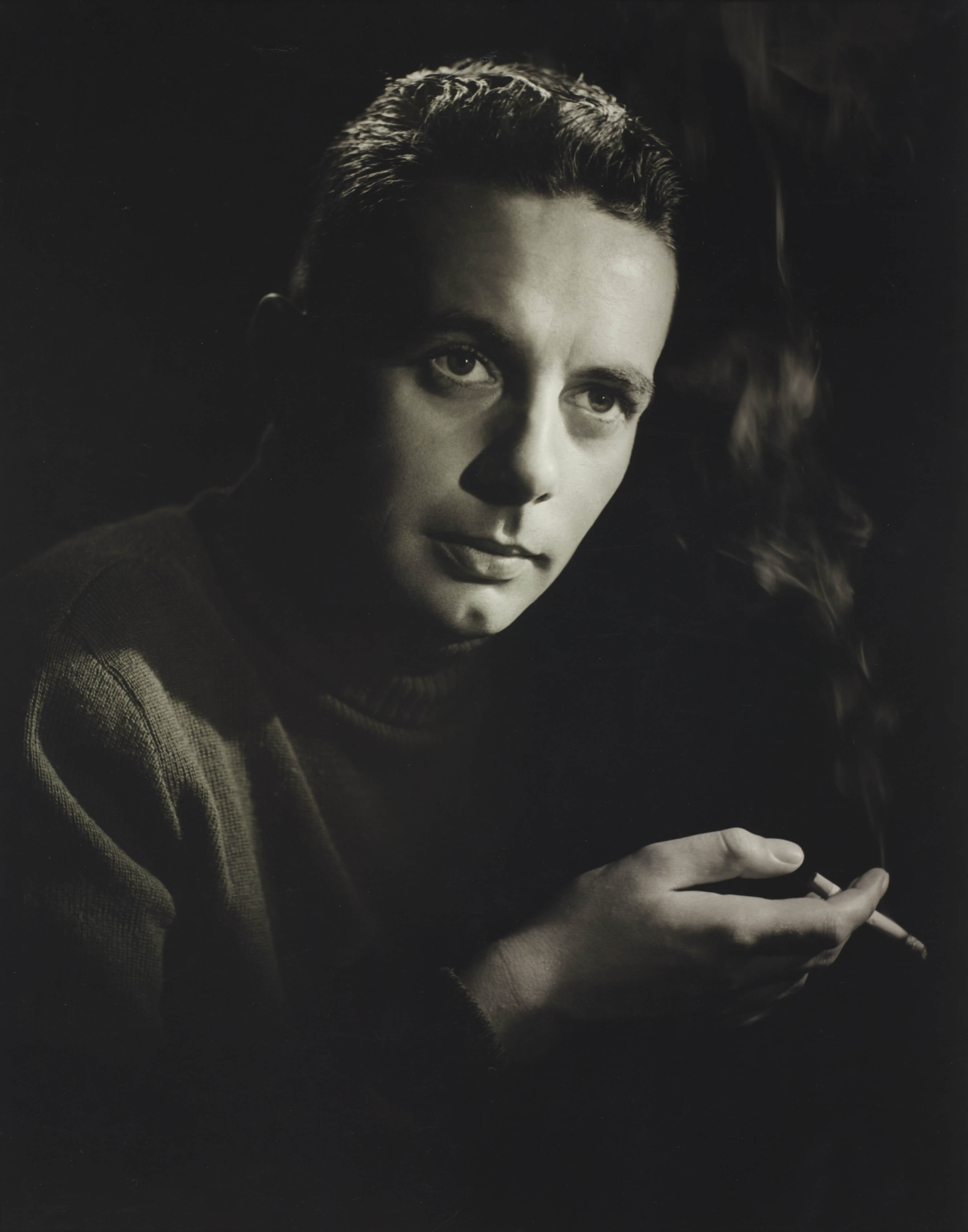 Peter Waller, Spencer Digby Studios, Portrait of a man smoking, c.1950. Spencer Digby / Ronald D Woolf Collection. Gift of Ronald Woolf, 1975. Te Papa