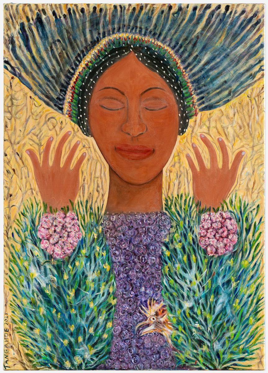 Hariata Ropata Tangahoe, Ira Wahine 1, 2021, acrylic on canvas, 1055 x 750 mm