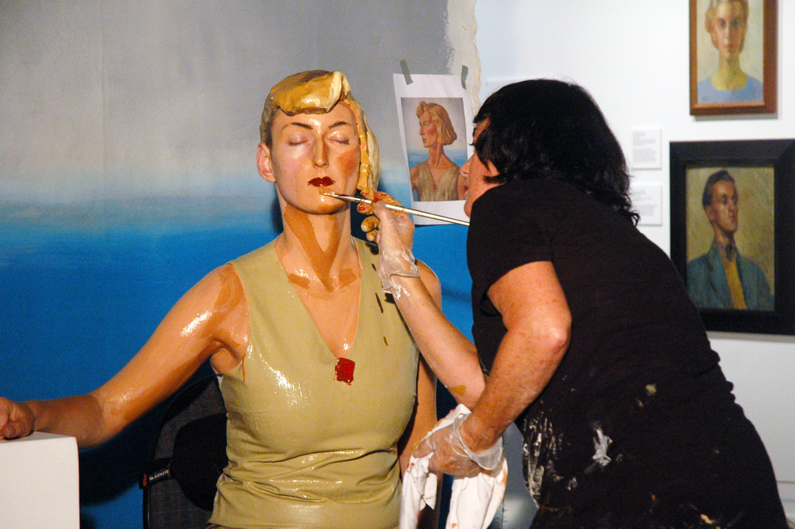 Performance painting by artist Julia Holden