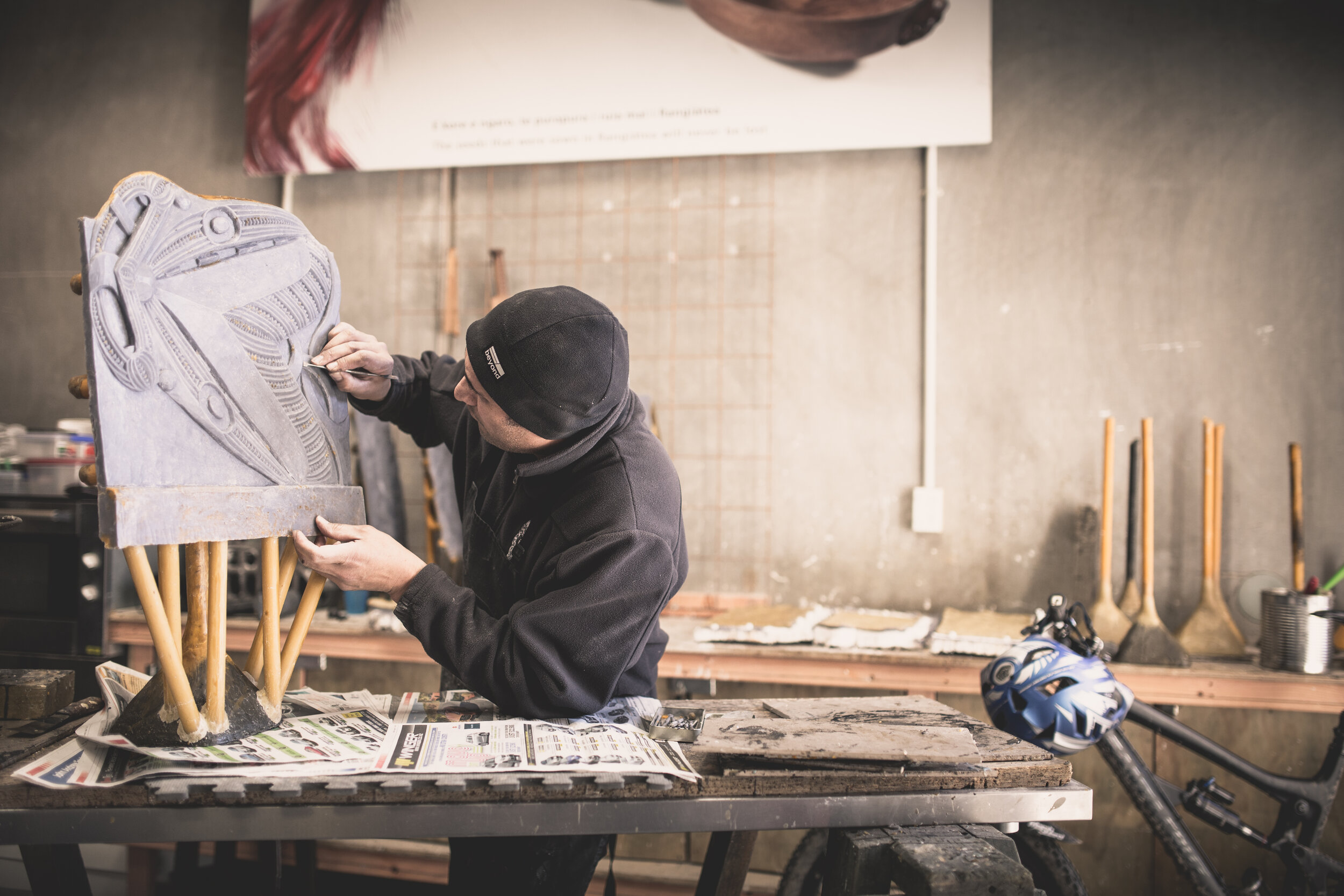 Artist and curator Eugene Kara discusses Māori ancestral representation