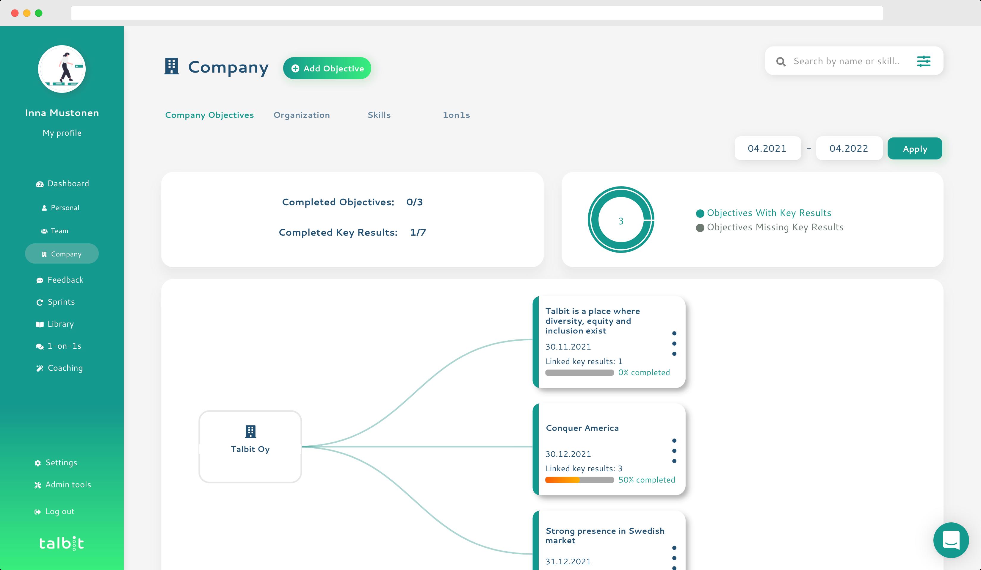 talbit company screenshot