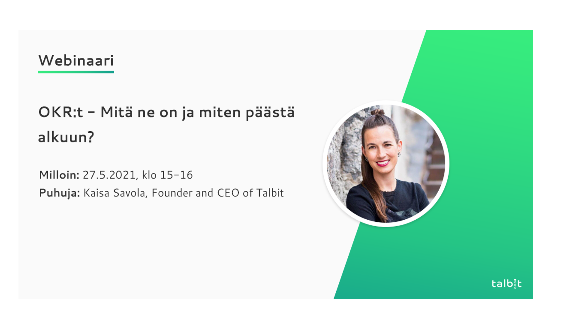 OKR - What are they & How to get started? (in Finnish)