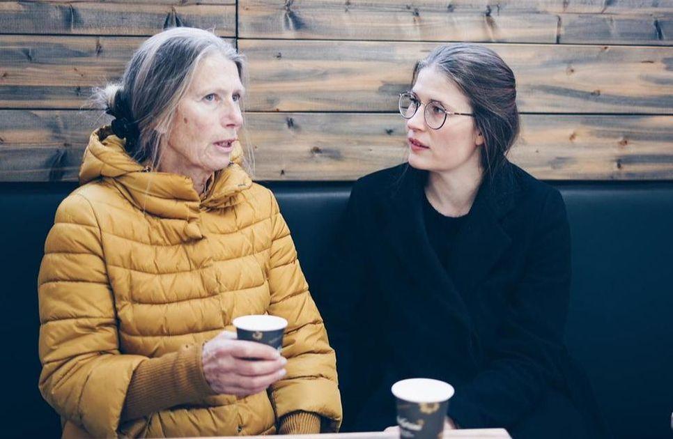 conversation with elderly