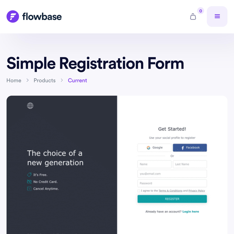 Mirela Prifti project featured on flowbase