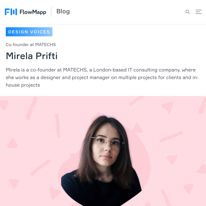Mirela Prifti flowmapp interview