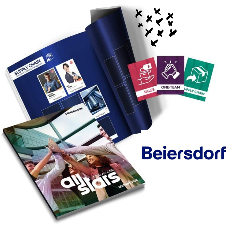 Beiersdorf Beispiel für ein Stickeralbum