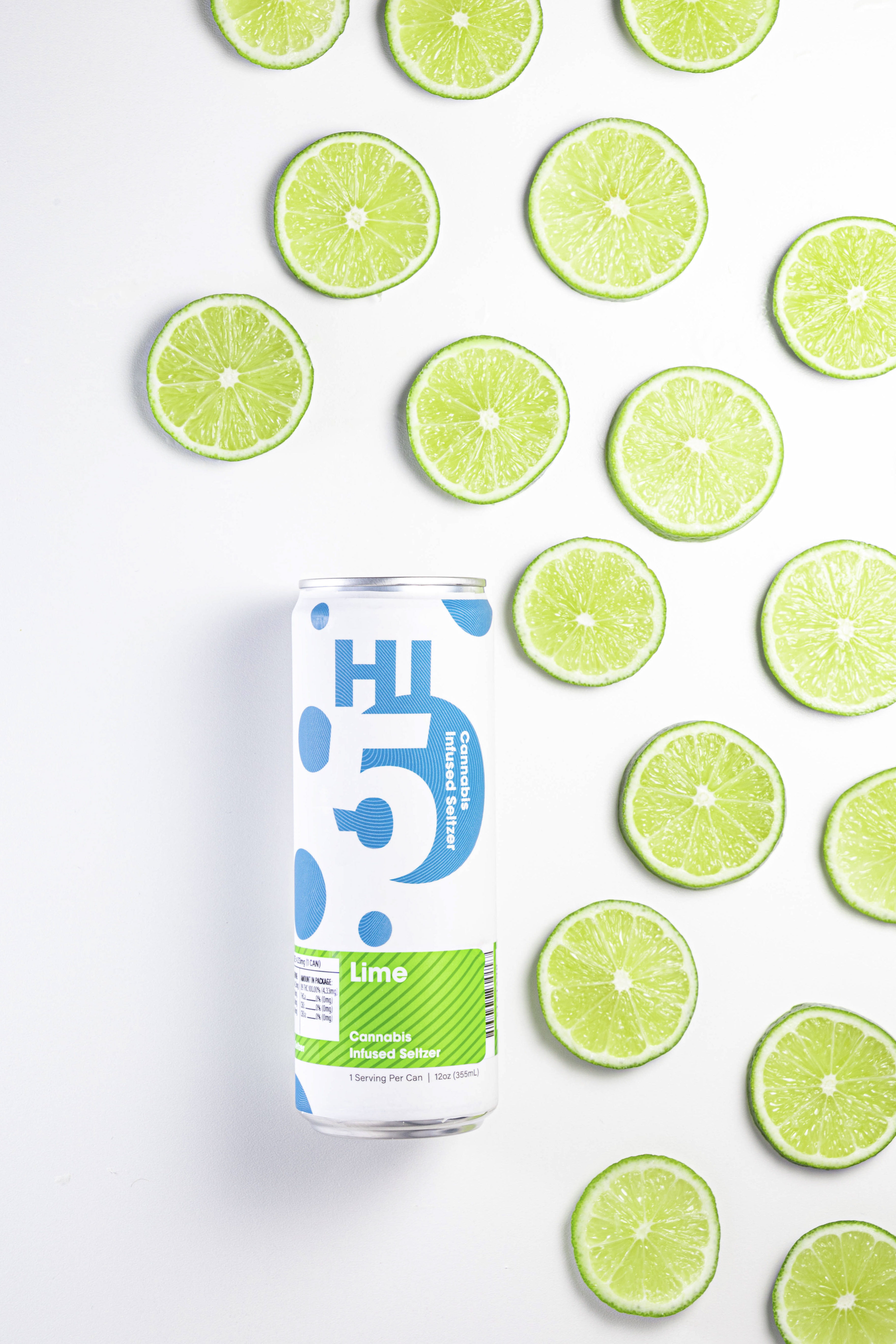 Lime Hi5 | Natural Flavors | Cannabis Infused Seltzer