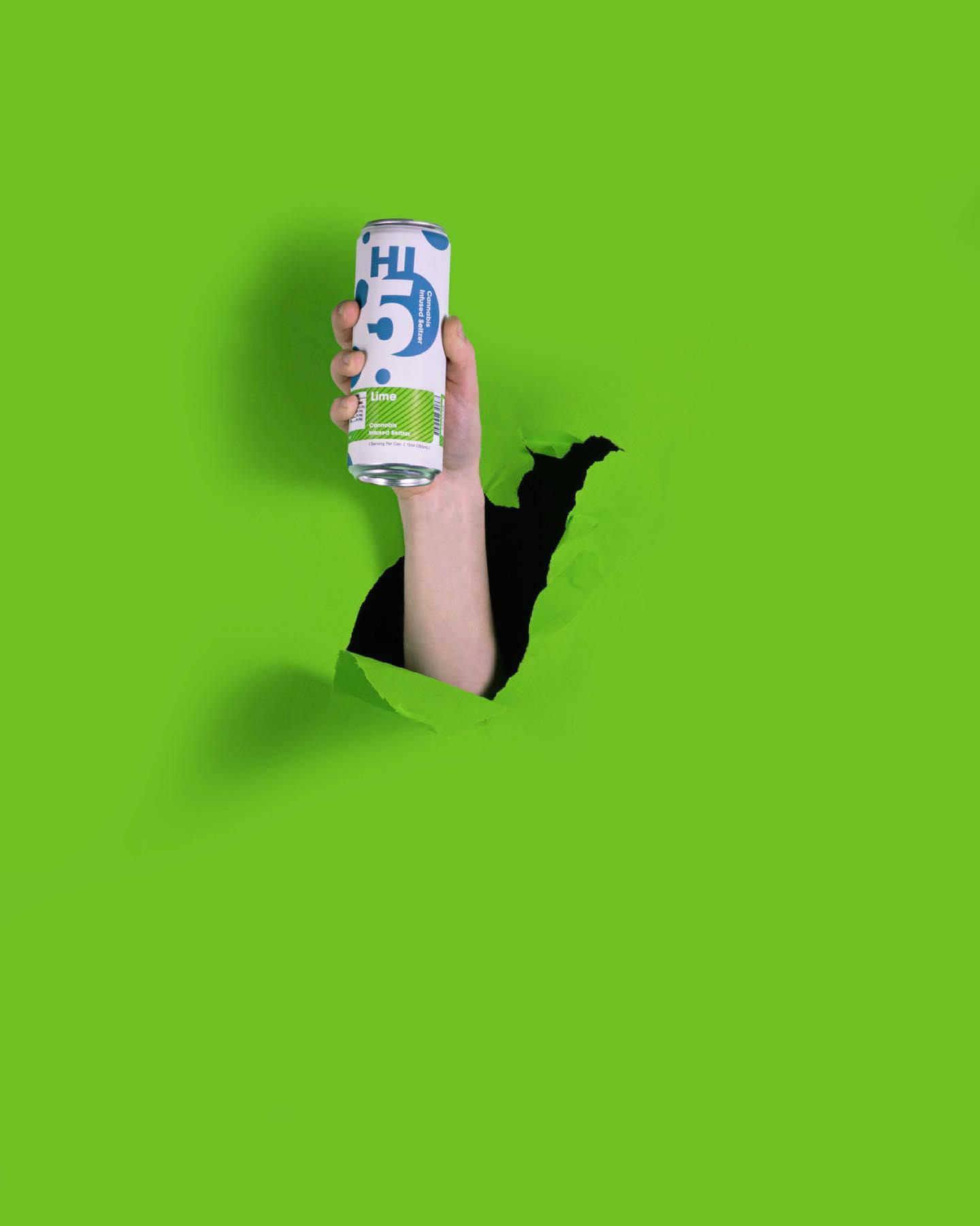 Lime-Hi5-Cannabis-Infused-Seltzer