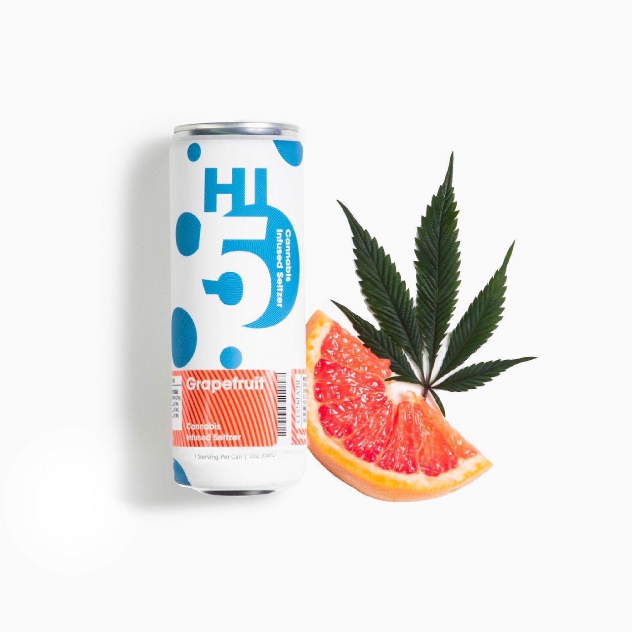 Hi5-Grapefruit-Cannabis-Infused-Seltzer