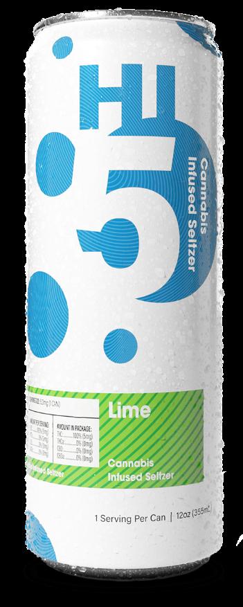 Lime Cannabis Seltzer