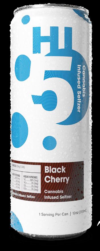 Black Cherry Cannabis Seltzer