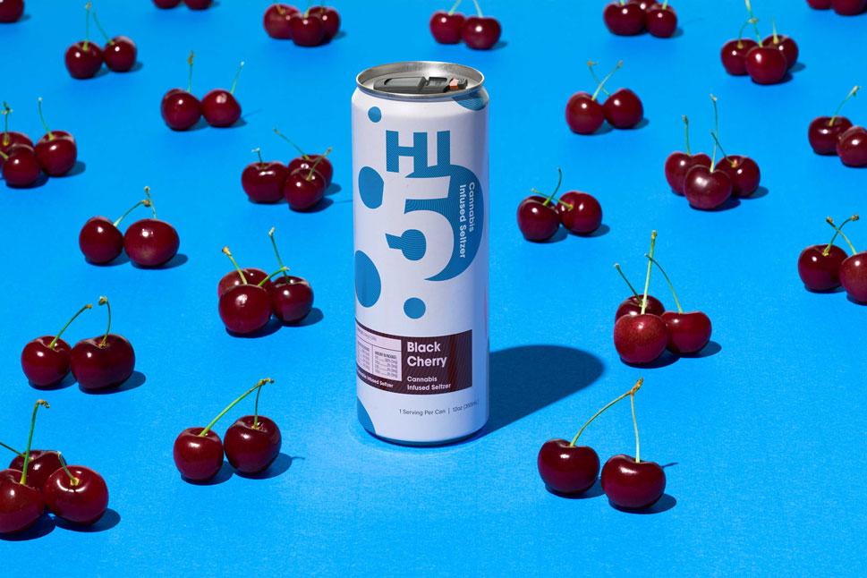 Black Cherry Hi5 surrounded by black cherries