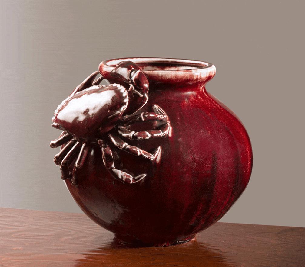 Vase crabe