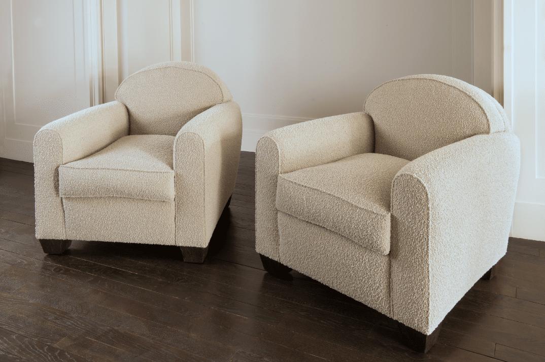 Paire de fauteuils ronds
