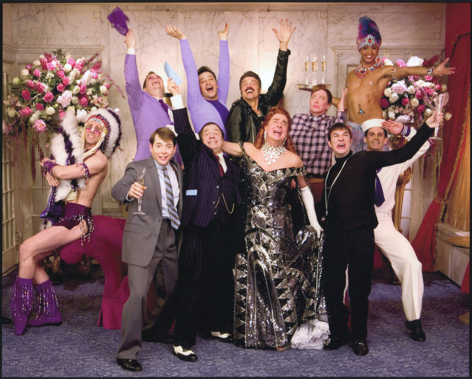 """The cast of """"Keep It Gay"""" from THE PRODUCERS: THE MOVIE MUSICAL."""