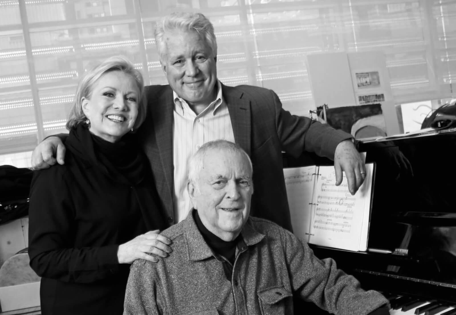 Collaborators Susan Stroman, David Thompson, and John Kander.
