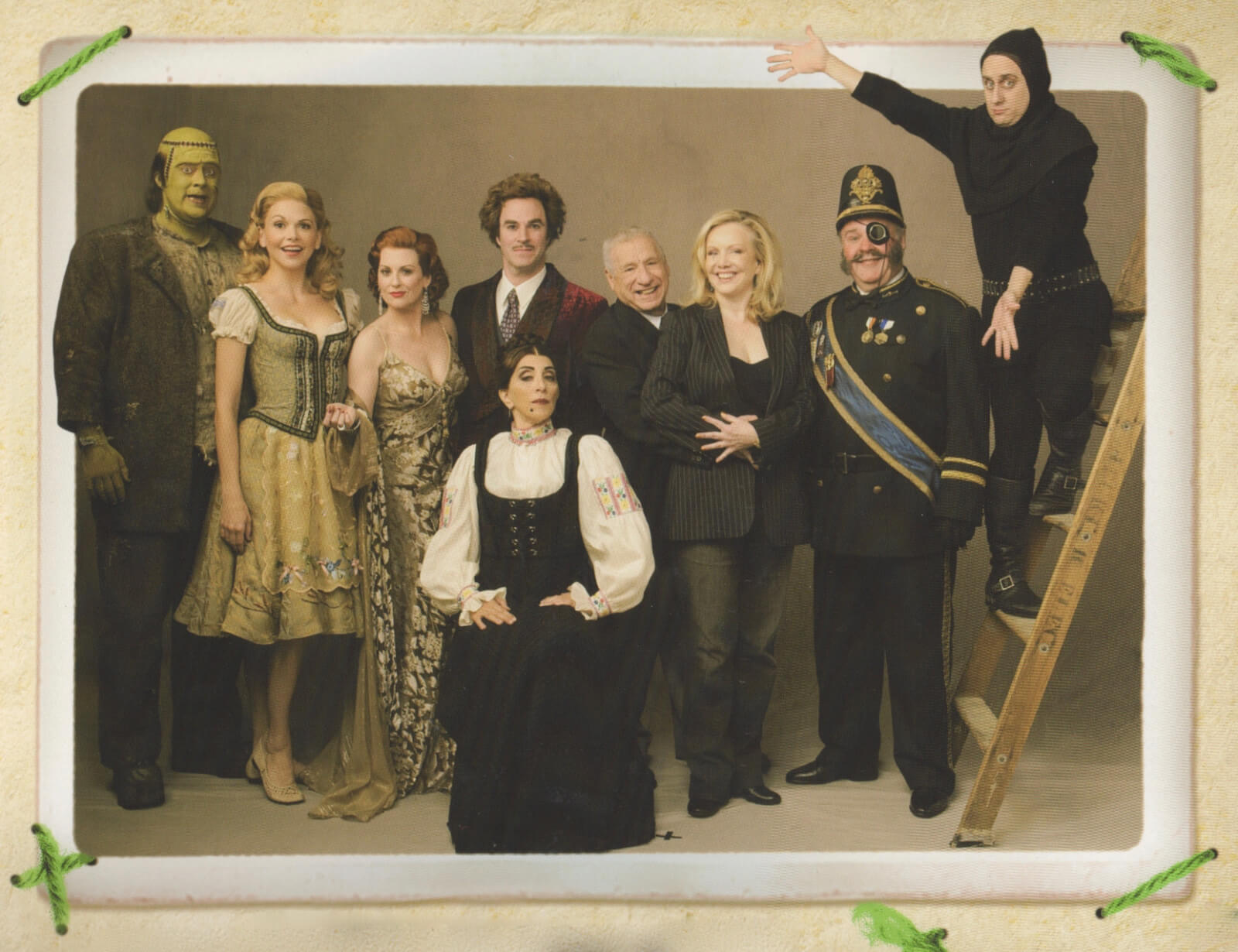 Mel Brooks, Susan Stroman and the Principal Cast of Young Frankenstein on Broadway.