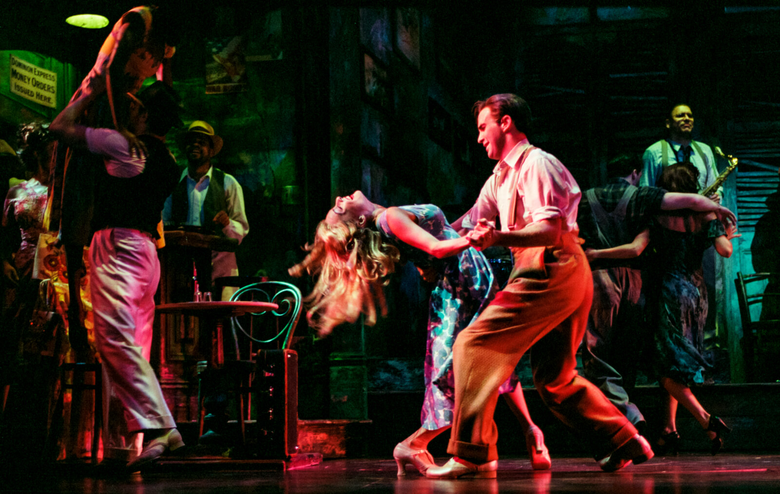 Kelly Severson and Bradley dancing in Thou Shalt Not.