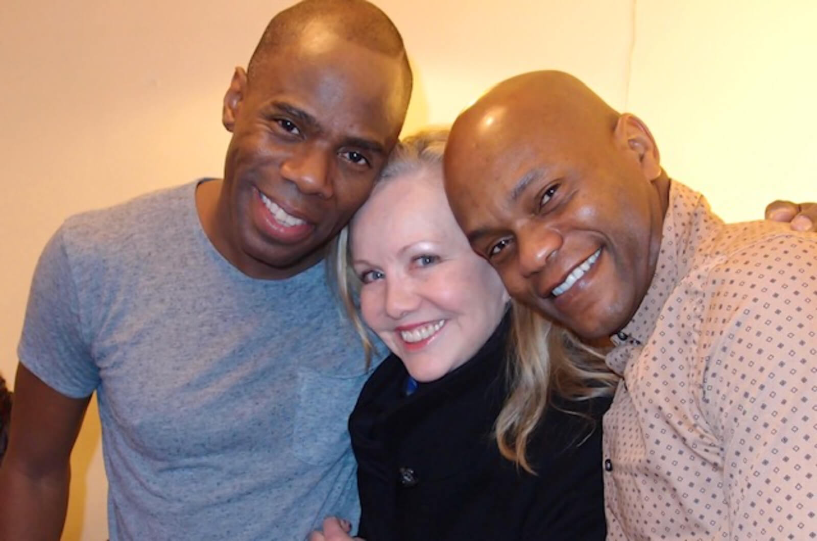 Coleman Domingo, Susan Stroman and Forrest McClendon in rehearsal. We are all smiling and happy to be together.