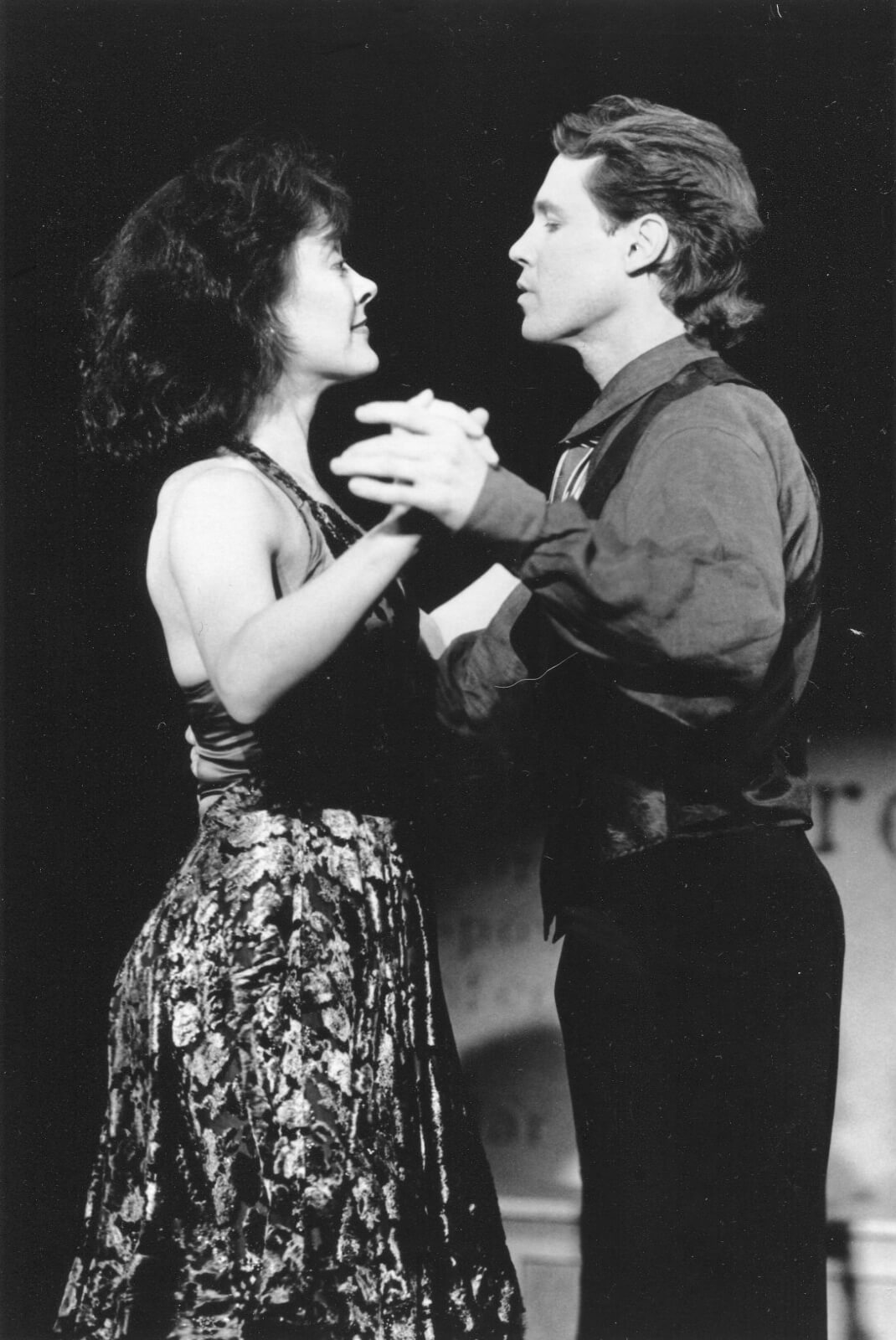 Karen Ziemba and Jim Walton performing a dance duet in And the World Goes 'Round.