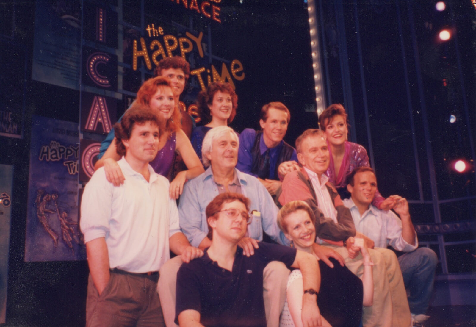The cast and creatives from the original Whole Theater Company production of And The World Goes 'Round.