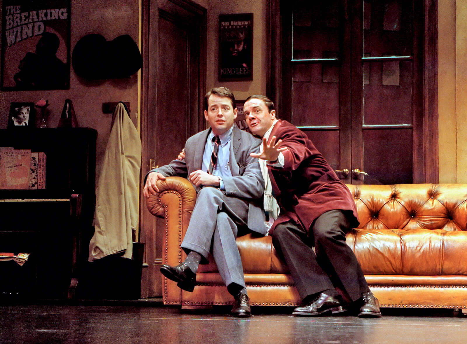 """Leo Bloom (Matthew Broderick) and Max Bialystock (Nathan Lane) sing """"We Can Do It""""."""