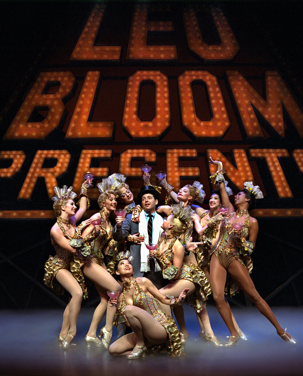 """Leo Bloom (Matthew Broderick) sings """" I Wanna Be a Producer""""."""