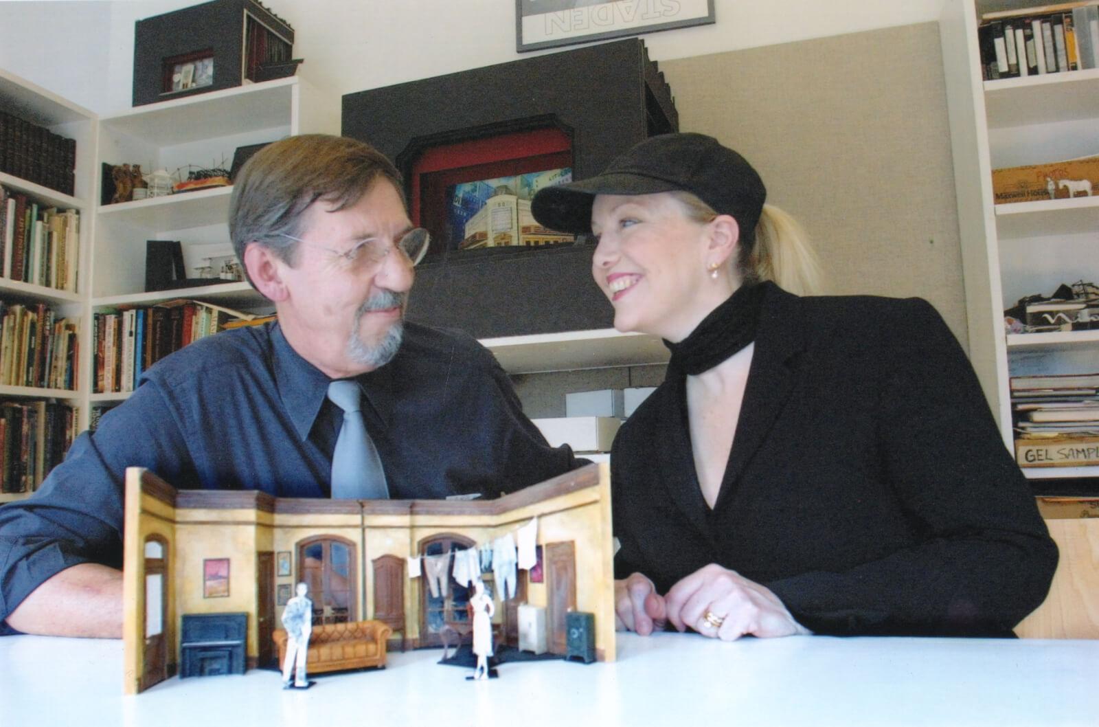 Susan Stroman collaborating with Set Designer Robin Wagner.