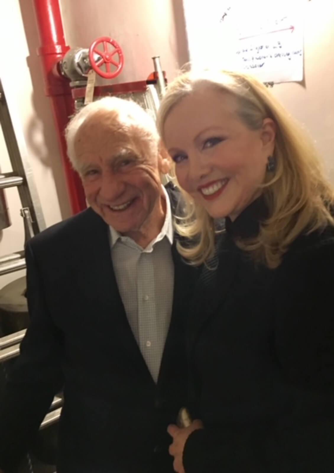 Mel Brooks and Susan Stroman backstage.