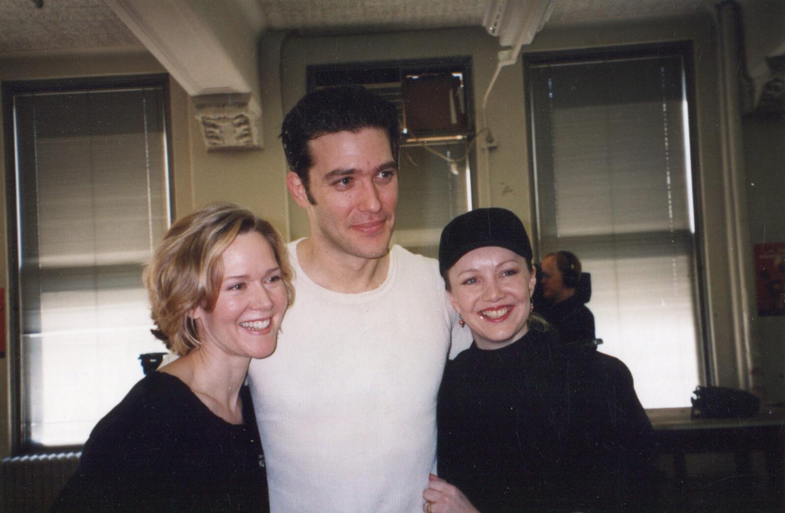Rebecca Luker, Craig Bierko and Susan Stroman in rehearsal for The Music Man.