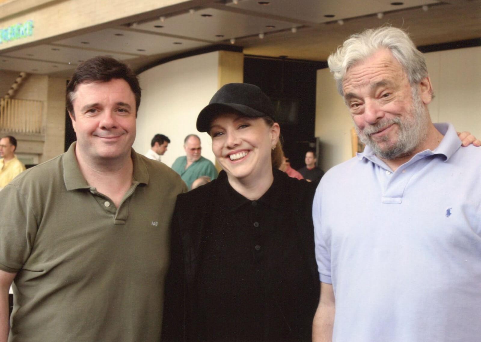 Nathan Lane, Susan Stroman and Stephen Sondheim.